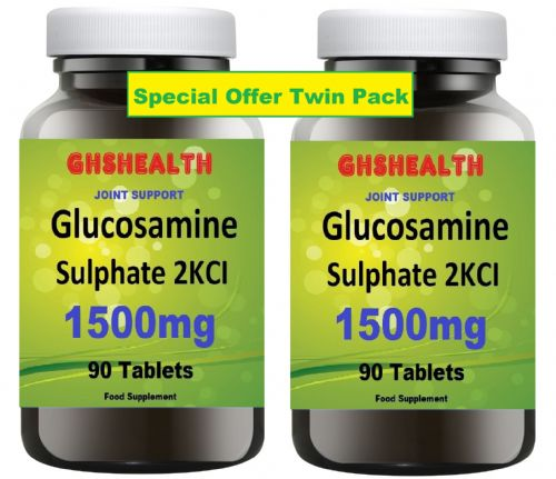Glucosamine Sulphate 1500mg 90+90 = 180 Tablets